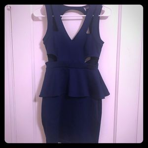 Cutout Urban Outfitters peplum dress